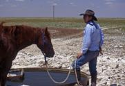 Curtis at Hackberry Camp, Diamond Half Ranch, Tatum, NM, 2002